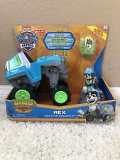 Paw Patrol DINO RESCUE REX Deluxe Rev Up Vehicle & Figure Nick Jr Truck