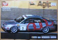 AUDI A4 Quattro Supertouring 1996 huge wall poster - Rinaldo Capello Yvan Muller