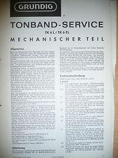 Service Manual-Anleitung für Grundig TK 6 L