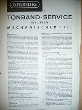Service Manual-Instructions pour Grundig tk 6 L
