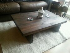 Chunky Rustic Reclaimed Style Coffee Table Handmade Solid Wood Oak Stain