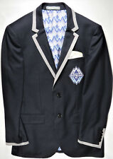 INDOCHINO Vancouver Whitecaps Blazer Jacket Blue Functioning-Slv-btnholes NEW 40