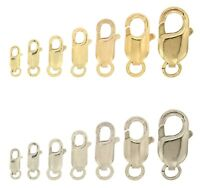 14k White & Yellow Gold Lobster Claw Clasp Bracelet Chain Replacement Lock 585