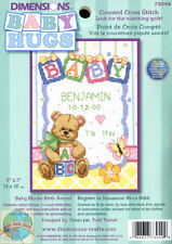 Cross Stitch Mini Kit ~ Dimensions Baby Alphabet Blocks Baby Birth Record #73049