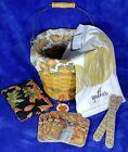 "Longaberger 2002 ""Sage Autumn Pail Basket"" Pumpkin Patch COMBO ~ Gift-Set"