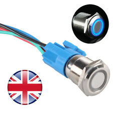 16mm 12V Waterproof Stainless Steel Latching LED Angel Push Button Switch Metal