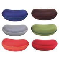 Semi-Hard Nylon Zipper Eyewear Case Bean Shape Sunglass/Eyeglass Sunnies
