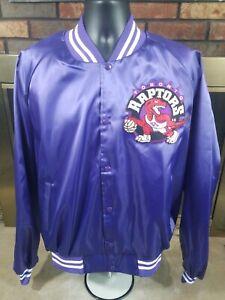 Vintage Toronto Raptors NBA Basketball Satin Snap Jacket Mens XXXL Purple RARE