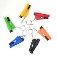 Car Escape Tool Mini Emergency Safety Hammer Keychain Belt Window Breaker Cut LH