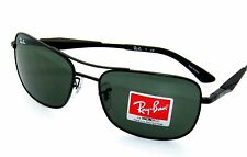 RAY BAN sunglasses 3515 MATTE BLACK/GREEN 006/71 Rayban 61mm Authentic