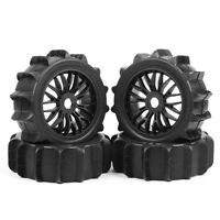 4 X Tires Wheel Rims For 1:8 RC Buggy Car Desert Snowfield Off-Road 17MM Hex