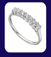 Eternity Ring Sterling Silver Solid Sterling Silver Anniversary