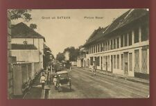 Dutch East Indies BATAVIA Pintoe Besar Steam Tram 1912 PPC