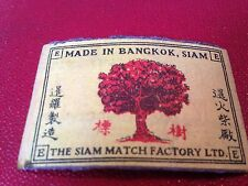 old match box top - made in bangkok siam
