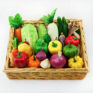 1x Artificial Plastic Fruit Vegetables Realistic Kitchen Display Food Home Decor