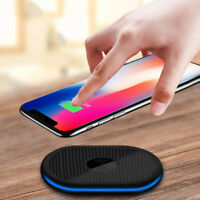 Qi Wireless Fast Charger Charging Pad Dock Mat For iPhone X 8 Samsung Galaxy S9
