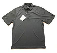 Greg Norman Men's ML75 Luxury Microfiber Short Sleeve Polo Shirt Black, M Medium