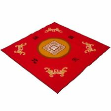 NEW *RED* MAH JONG TABLE COVER MAT - BUNCO - CARDS - CANASTA  + Fabric Case