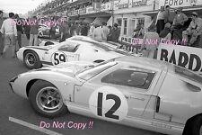 Innes Ireland & Jochen Rindt Ford GT40 Le Mans 1966 fotografía