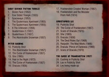 HAMMER HORROR - Series One - Card #71 - CHECKLIST - Strictly Ink 2007