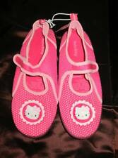 Hello Kitty Girls pink beach water sandals shoes rubber soles size Lg 4-5 NWT