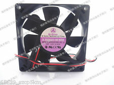 BI-SONIC BP802512HL-03 12V 0.4A 80x80x25mm 2 Wire Chassis Cooling Fan