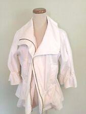CYNTHIA STEFFE | Women's White Cotton Jacket Sz 4 Free Shipping!