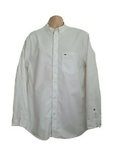 Tommy Jeans Mens XL Vintage White Longsleeve Twill Shirt