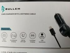 IPhone Car Charger (bullem) compatible with Apple iPhone. Extra USB port 2.1a.