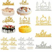 Eid Mubarak Ramadan Cake Topper Wedding Islam Muslim Glitter Hajj Party Decor