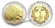 Türkei 2014 Igel lange Schmuckschildkröte 1 Lire Gedenkmünzen BiMetall unc Kursmünze