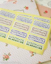 Etiqueta de Estilo Vintage Hechos a Mano Pegatinas Zakka Rústico Regalo Artesanía sello etiquetas 40pc