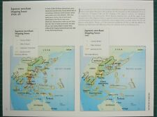 WW2 WWII MAP ~ JAPANESE MERCHANT SHIPPING LOSSES 7 DEC 1944-1945 SHIPS
