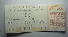 SAXON Old Concert Ticket Stub 1985 Apollo Theatre Oxford