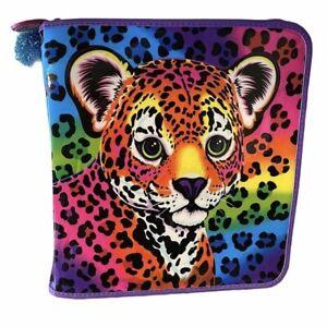 Lisa Frank Colorful Neon Leopard 3 Ring Zip Binder