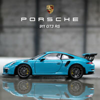 WELLY Diecast Model Blue 2016 Porsche 911 GT3 RS Super Sports Car in 1:24 Scale