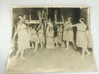 Torch Dance Recital McKinley High School Cleveland OH 1921 Photo Girls Costumes