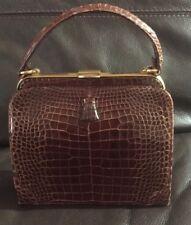 56cfbe3a7011 LUCILLE DE PARIS Original Alligator Handbag Purse Bag Satchel Reptile  Vintage