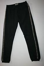 New OshKosh Black Knit Fleece Pants Size 6 Kid NWT Active Pants Gold Acccent