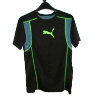 Puma Shirt Boys M Black Neon Green Gray