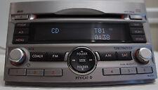 2010-12 SUBARU LEGACY OUTBACK AM/FM/CD/AUX/SAT OEM RADIO 86201AJ64A PE645U1