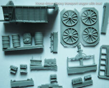 A Horse drawn Wagon: Heavy transport, w wooden drums, ladder type, w boxes 1/72