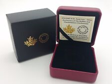 2014 Royal Canadian Mint $100 Gold Coin Anniversary Empty Red Leather Box COA