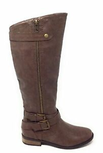 Rampage Womens Hansel Knee High Western Riding Boots Brown Size 7.5 M US