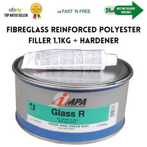Fibreglass Glass Fibre Filler 1.1kg Fibreglass Car Body Repair IMPA Glass R (NEW