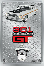 Pop A Top - Wall Mount Bottle Opener Metal Sign - Ford XW GT Polar White
