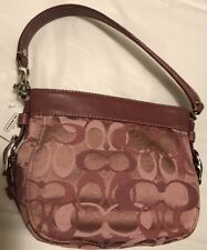 Rare To Find Cute Little Coach Pink Zoe Optic Signature 44109 Top Handle