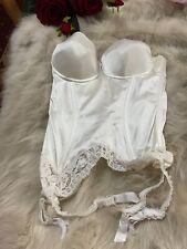 Imec ivory hard padded strapless garter Corset bustier size  Us34b Eu75b It3b