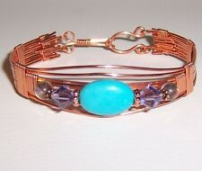 REDUCED!! Beautiful Turquoise Handcrafted Copper Wire Wrapped Bracelet