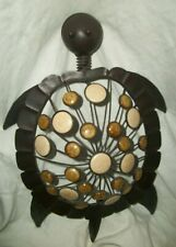 New listing Sea Turtle Dark Brown Metal & Brown Stones Wall Hanging, 15 inch by 11 inch.